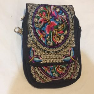 Handbags - Just In! Embroidery Crossbody- Coin Purse